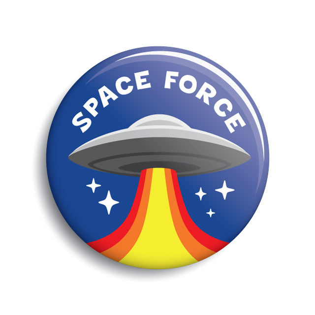 Space Force UFO button (pin-back & magnet)