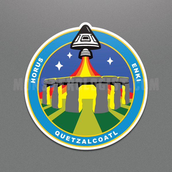 Stonehenge Station ancient astronaut insignia sticker by Monsterologist