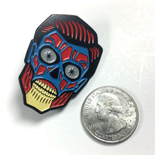 Load image into Gallery viewer, They Live alien head enamel pin