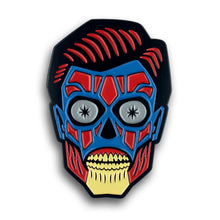 Load image into Gallery viewer, They Live Alien Head enamel pin by Monsterologist
