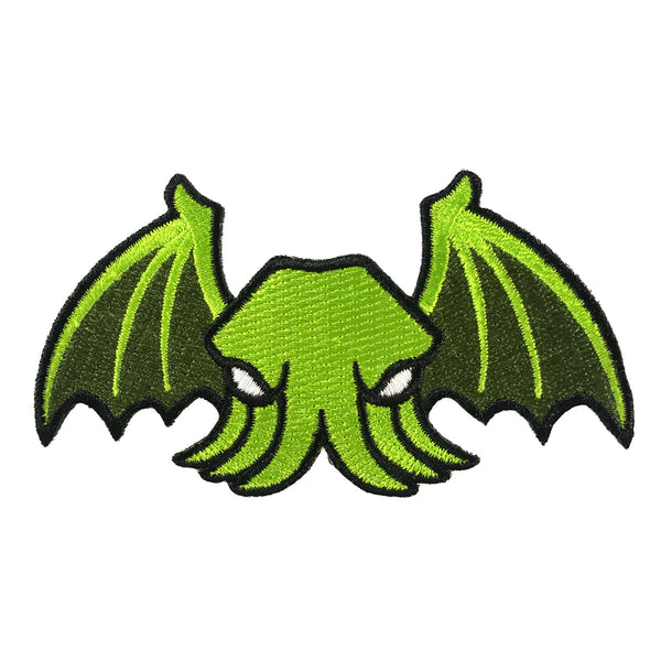 Winged Cthulhu embroidered patch by Monsterologist