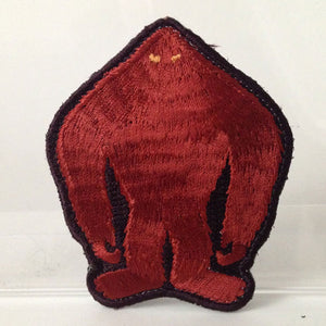 Yowie silhouette embroidered patch