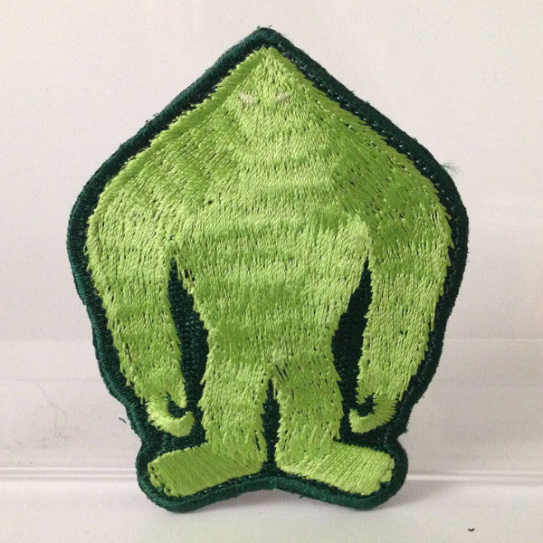 Skunk Ape silhouette embroidered patch