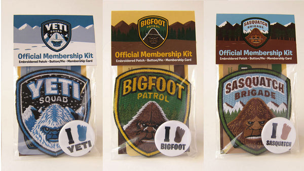 Bigfoot Patrol, Yeti Squad, Sasquatch Brigade 3-Pack Embroidered Patch – Cryptids, Paranormal