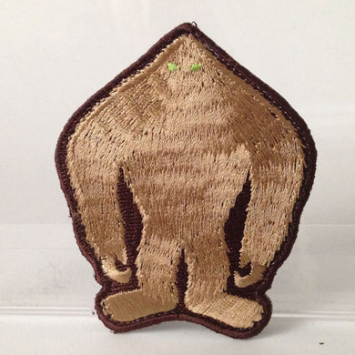Grassman silhouette embroidered patch