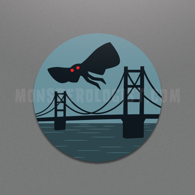 Mothman Point Pleasant West Virginia Circle sticker by Monsterologist