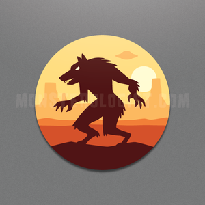 Skinwalker sticker by Monsterologist