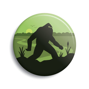 boggy Creek Monster pin-back button by Monsterologist
