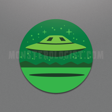 Area 51 UFO Circle Sticker by Monsterologist