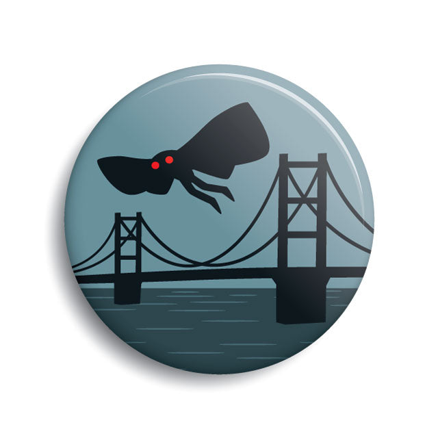 Mothman Point Pleasant pin-back button by Monsterologist