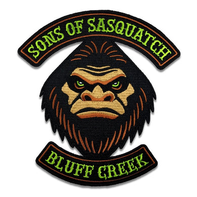 Sons Of Sasquatch (Bluff Creek) Bigfoot cryptid motorcycle club biker embroidered patch