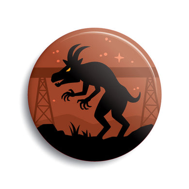 Pope Lick Goatman pin-back button by Monsterologist