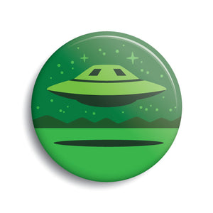 Area 51 UFO pin-back button by Monsterologist