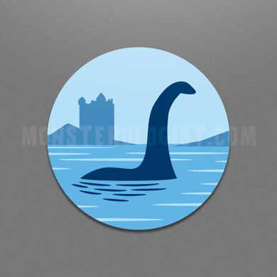 loch Ness Monster circle sticker by Monsterologist