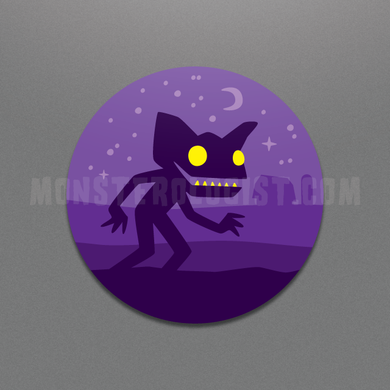 hopkinsville Goblin circle sticker by Monsterologist