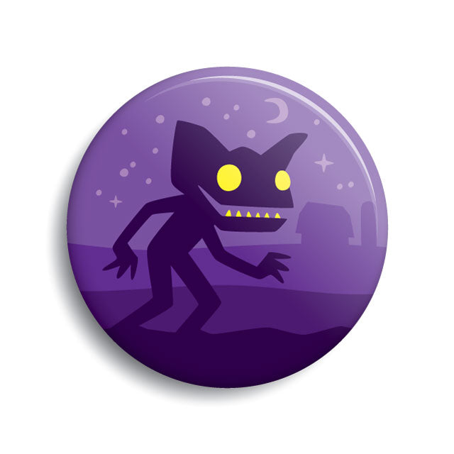 Hopkinsville Goblin pin-back button by Monsterologist