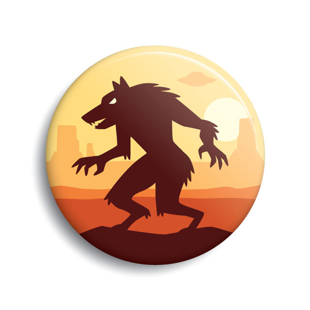 Skinwalker pin-back button by Monsterologist