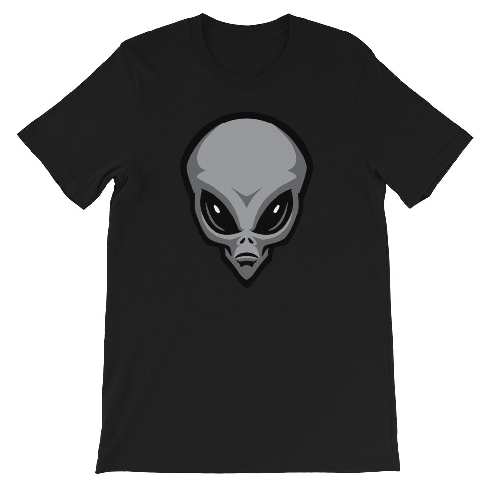 Gray Alien Head T-Shirt
