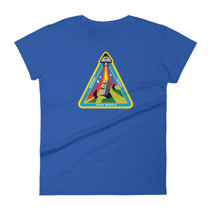 Easter Island Outpost Ancient Astronaut Insignia women's short sleeve t-shirt