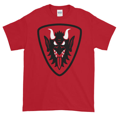 Krampus Face Heraldic Shield Short-Sleeve T-Shirt