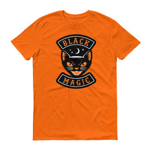 "Load image into Gallery viewer, ""Black Magic"" Vintage Halloween Black Cat  Short-Sleeve T-Shirt"
