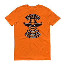 Load image into Gallery viewer, Sons Of Samhain Scarecrow Halloween Biker Short-Sleeve T-Shirt
