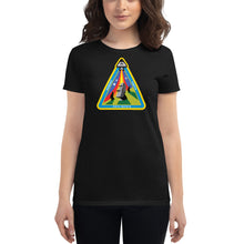 Load image into Gallery viewer, Easter Island Outpost Ancient Astronaut Insignia women's short sleeve t-shirt