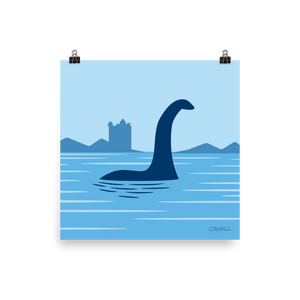 Loch Ness Monster print