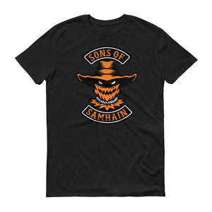 Sons Of Samhain Scarecrow Halloween Biker Short-Sleeve T-Shirt