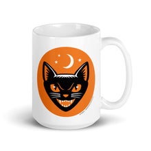 Load image into Gallery viewer, Vintage Halloween Black Cat Coffee Mug