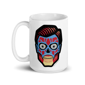 They Live Alien Head coffee mug