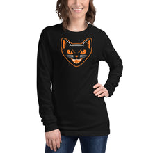 Load image into Gallery viewer, Halloween Black Cat Long Sleeve T-Shirt