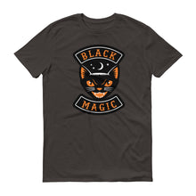 """Black Magic"" Vintage Halloween Black Cat  Short-Sleeve T-Shirt"
