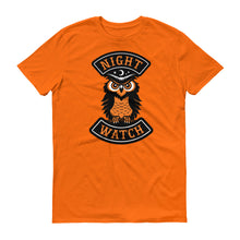 Load image into Gallery viewer, Night Watch owl Halloween biker short-sleeve t-shirt