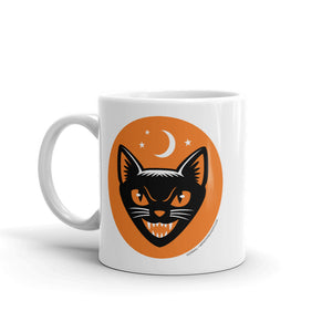 Vintage Halloween Black Cat Coffee Mug