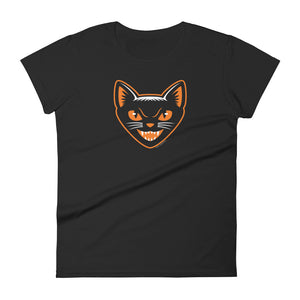 Black Cat Women's Short-Sleeve T-Shirt