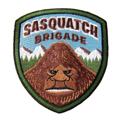 Sasquatch Brigade cryptozoology park ranger military embroidered morale patch | Monsterologist