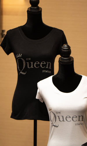 on Queen Status Short Sleeve Bling t-shirt