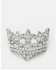 Royal Crown Crystal Broach