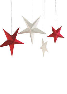 DER STERN FOLDED PAPER STAR RED 2PCS