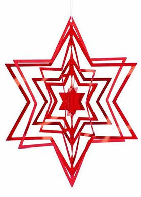 3-D STAR CHRISTMAS TREE ORNAMENTS