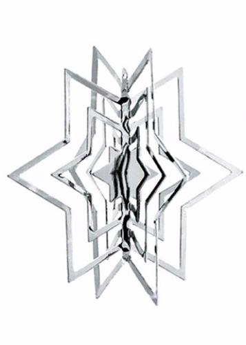 3-D ORNAMENTS SILVER STAR 2 PCS