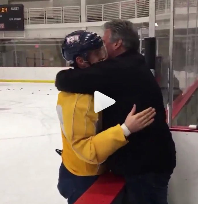 Proud Hockey Dad is So Relatable He'll Make You Cry