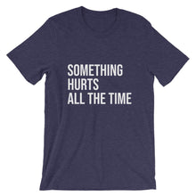 Something Hurts All the Time Cool Dad T-shirt in Navy