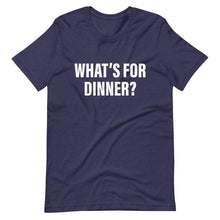 What's For Dinner Cool Dad T-Shirt Navy