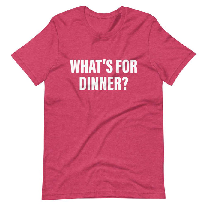 What's For Dinner Cool Dad T-Shirt Red
