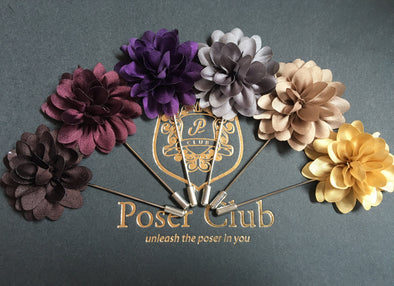 Men's Flower Lapel Pin - Series 4 by Poser Club