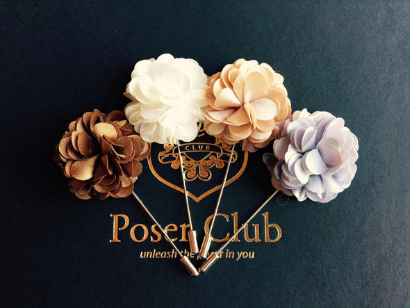 Men's Flower Lapel Pin - Series 1 by Poser Club