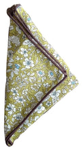 Tie and Pocket Square Duo Set by Poser Club - 'The Turf' Green FloralSet