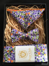 Matching Necktie, Bow Tie and Pocket Square Set Purple Passion Trio Set